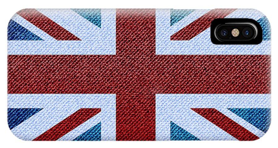 Background IPhone X Case featuring the photograph Union Jack Denim by Jane Rix