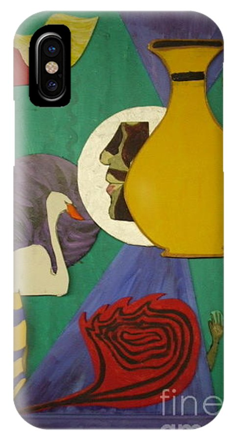 Abstract Creation IPhone X Case featuring the relief Untitled by Portia Petty