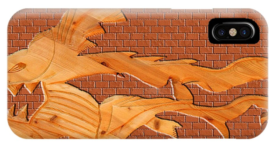 Fish IPhone X Case featuring the photograph Up Against A Brick Wall by Robert Margetts