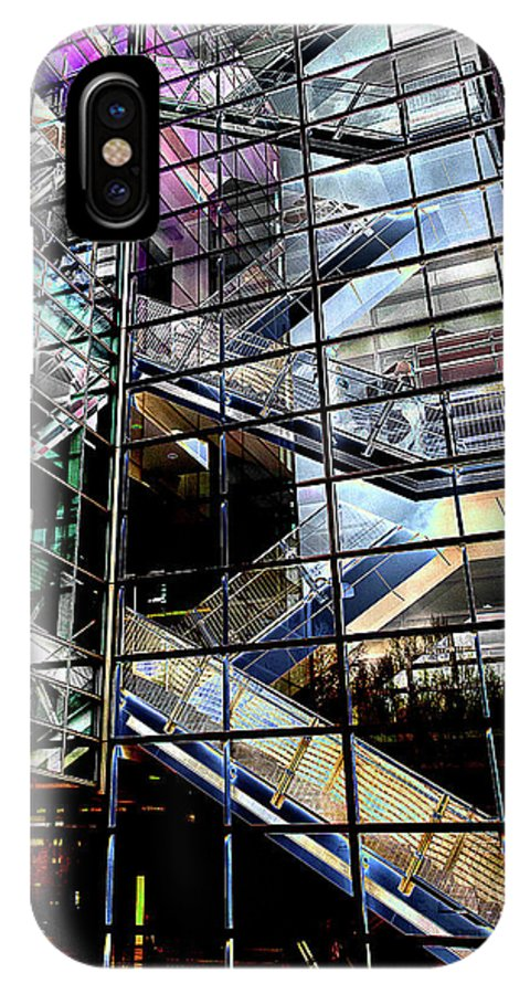 IPhone X Case featuring the photograph Up And Down Reflections 2 by Burney Lieberman