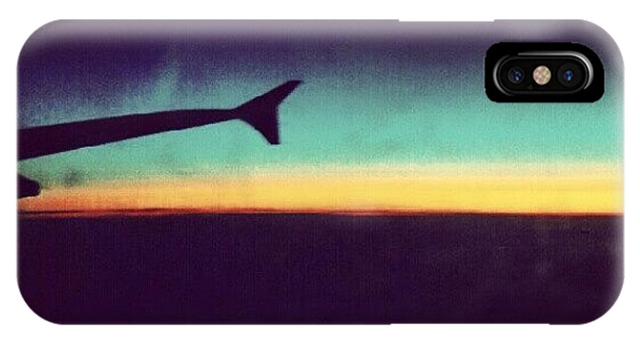London IPhone X Case featuring the photograph Up In The Air :) On My Way To #london by Abdelrahman Alawwad