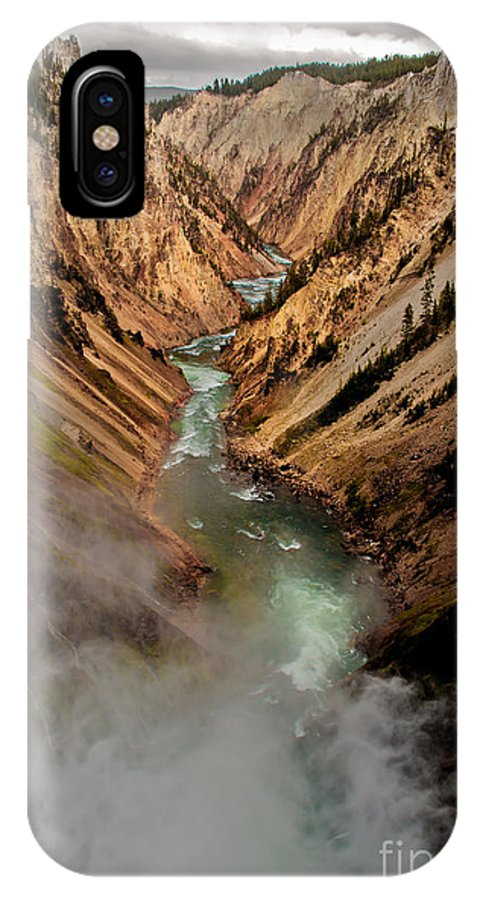 Scenic IPhone X Case featuring the photograph Upper Yellowstone Falls by Robert Bales