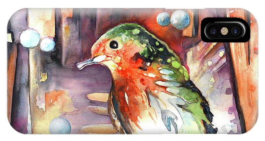 Animals IPhone X Case featuring the painting Vagabond De La Nuit by Miki De Goodaboom