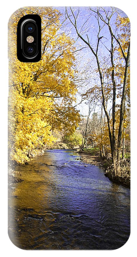 Valley Forge IPhone X Case featuring the photograph Valley Forge Creek In Autumn by Bill Cannon