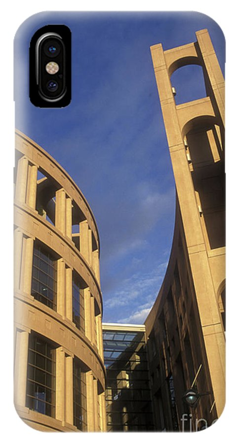 Vancouver IPhone X Case featuring the photograph Vancouver Library Building by John Mitchell