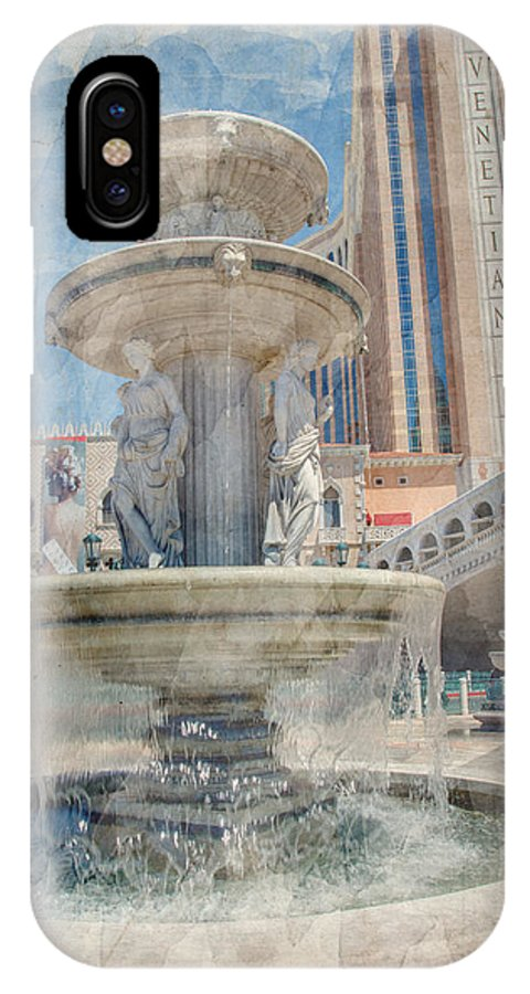 America IPhone X Case featuring the photograph Venetian by Ricky Barnard