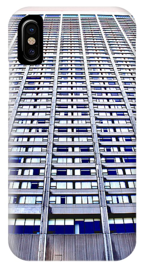 Vertical IPhone X Case featuring the photograph Vertical Urbanization by Valentino Visentini