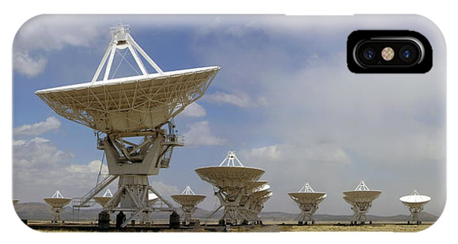 Vla IPhone X Case featuring the photograph Very Large Array (vla) Radio Antennae by Tony Craddock