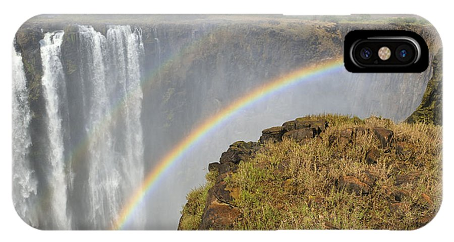 Victoria Falls IPhone X Case featuring the photograph Victoria Falls by Tony Beck