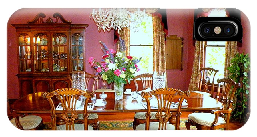 Bed And Breakfast Dining Room IPhone X Case featuring the photograph Victorian Dining by Kathy White