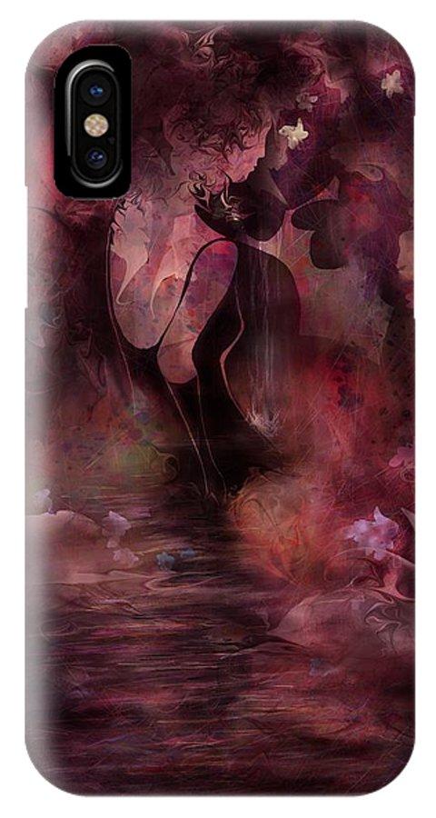 Victorian Era IPhone X Case featuring the digital art Victorian Dreams by Rachel Christine Nowicki