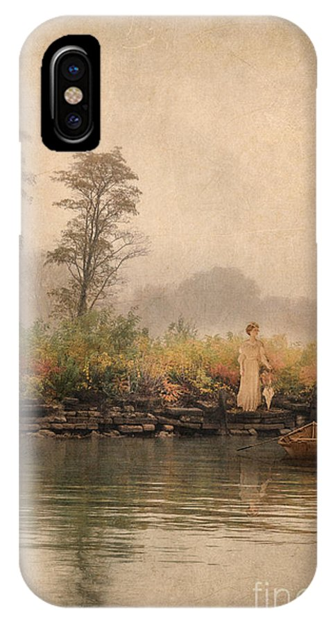 Beautiful IPhone X Case featuring the photograph Victorian Lady By Row Boat by Jill Battaglia