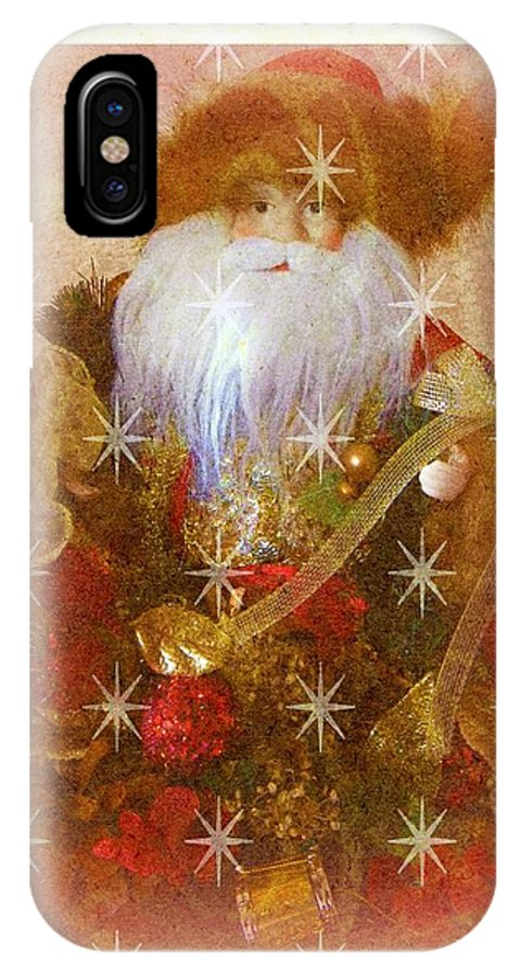 Victorian IPhone X Case featuring the photograph Victorian Santa by Michelle Frizzell-Thompson