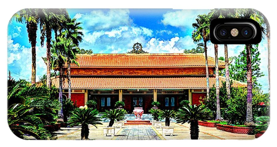 Buddhist IPhone X Case featuring the photograph Vietnamese Buddhist Temple by David Morefield