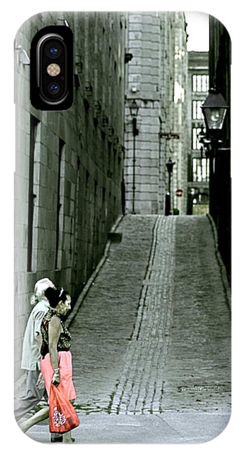 Valerie Rosen IPhone X Case featuring the photograph Vieux Montreal by Valerie Rosen