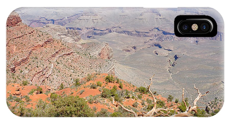 View IPhone X Case featuring the photograph View From The South Kaibab Trail II by Julie Niemela