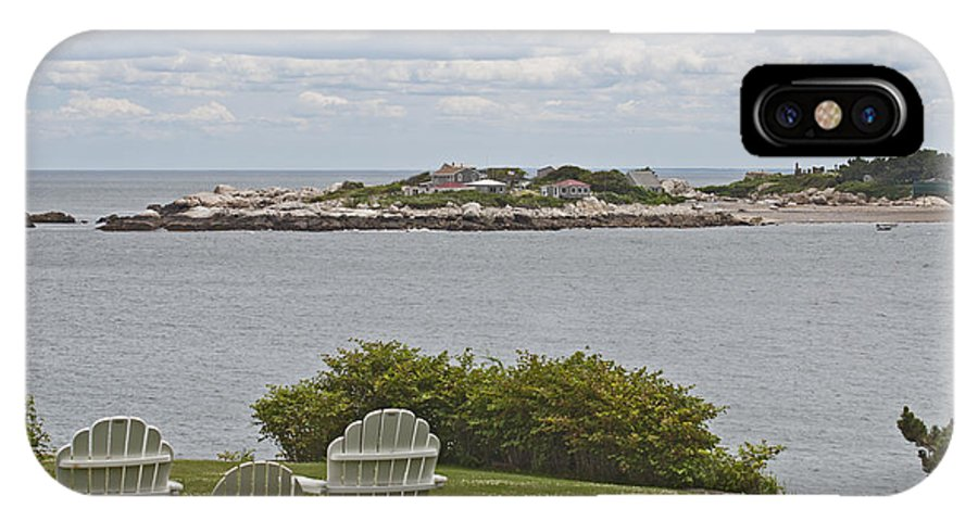 Sky IPhone X / XS Case featuring the photograph View Of Tinkers Island by Ruth H Curtis