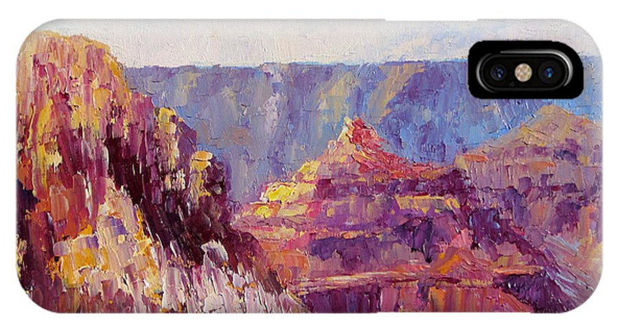 Grand Canyon IPhone X / XS Case featuring the painting Village View by Terry Chacon