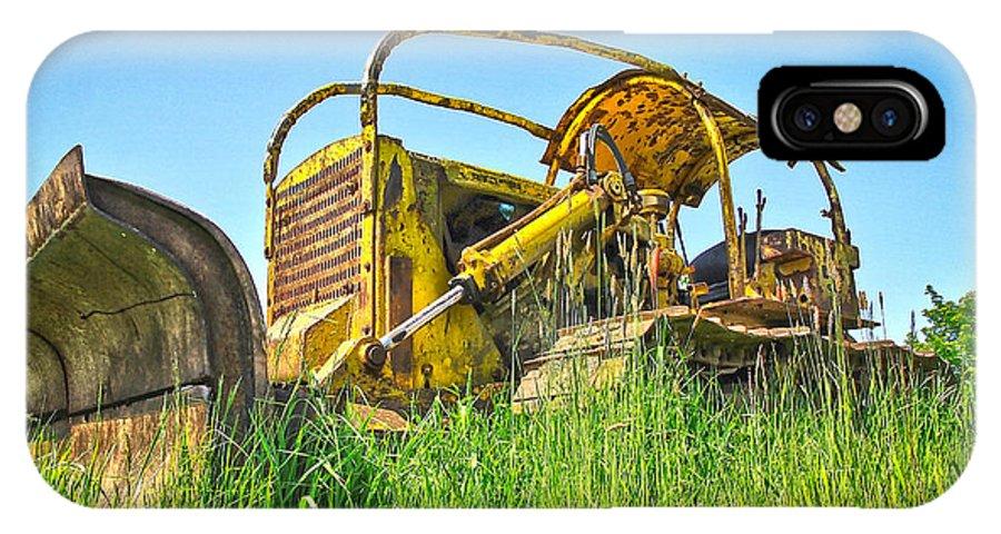 Farm Equipment IPhone X Case featuring the photograph Vintage Cat by Steve McKinzie