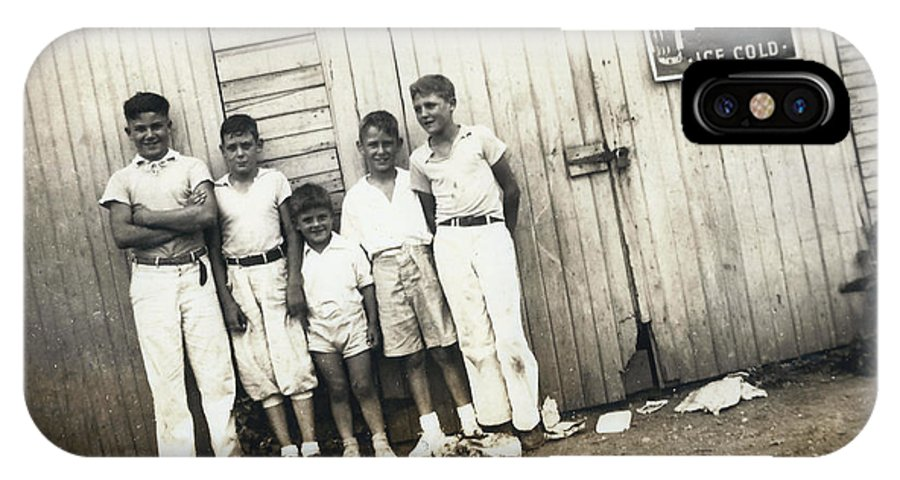 Digitized IPhone X Case featuring the photograph Vintage Coca Cola Kids by Alan Espasandin