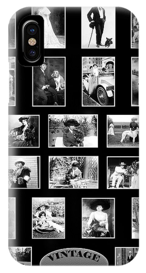 Dogs IPhone X Case featuring the photograph Vintage Dogs by Andrew Fare