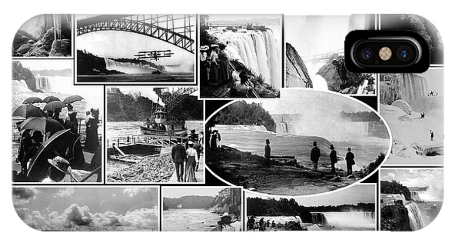 Waterfall IPhone X Case featuring the photograph Vintage Niagara Falls by Andrew Fare