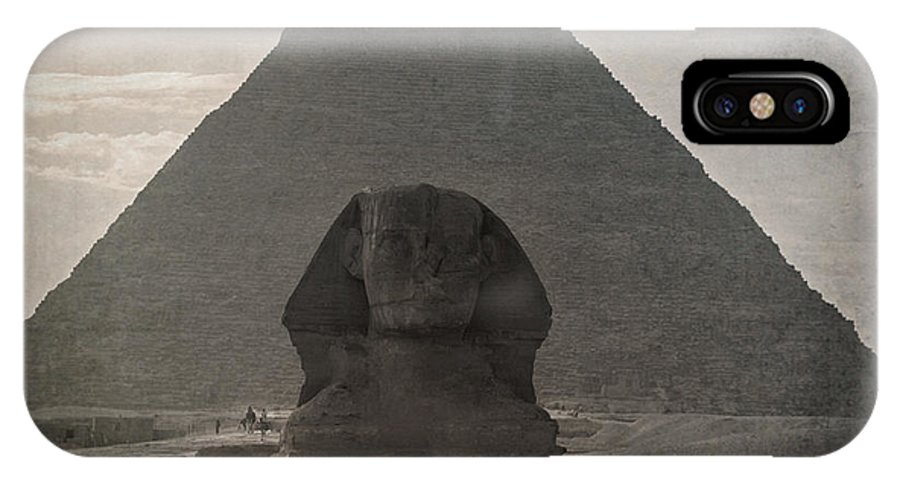 Africa IPhone X Case featuring the photograph Vintage Sphinx by Jane Rix