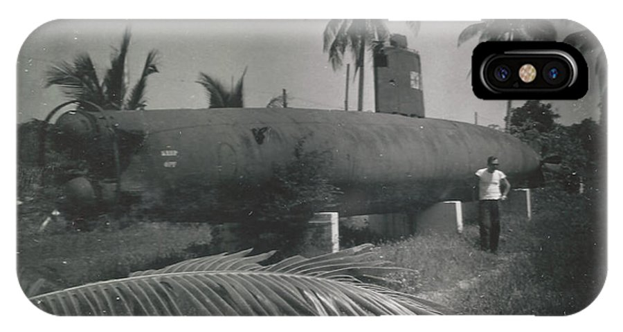 Digitized IPhone X Case featuring the photograph Vintage Submarine by Alan Espasandin