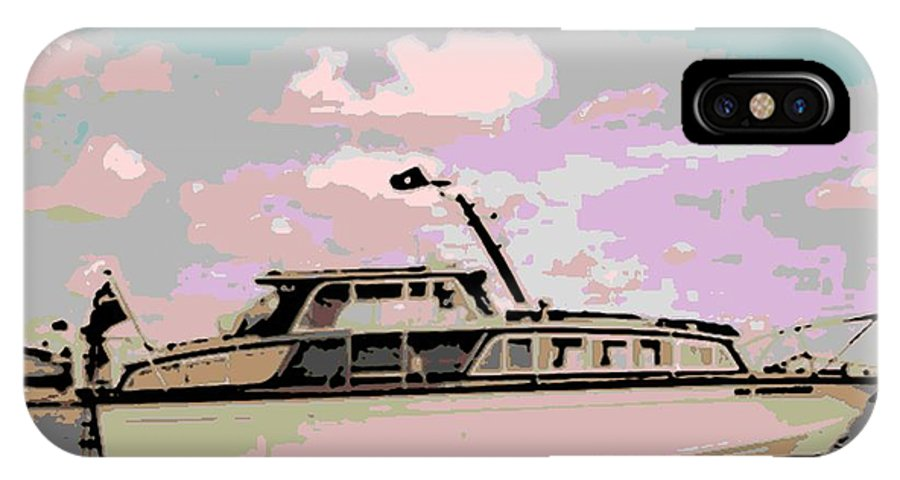 Boat IPhone X Case featuring the photograph Vintage Yacht by George Pedro