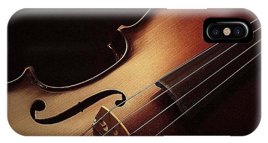Violin IPhone X Case featuring the photograph Violin by Linda Fowler