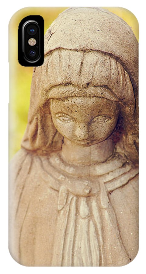 Virgin Mary IPhone X Case featuring the photograph Virgin Mary Statue by Southern Tradition