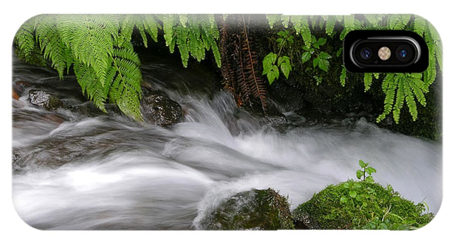 Wahkeena Falls IPhone X / XS Case featuring the photograph Wahkeena Falls One by Mike Penney