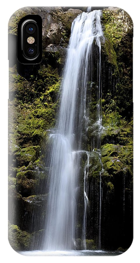 Beauty IPhone X Case featuring the photograph Waikani Waterfall by Jenna Szerlag