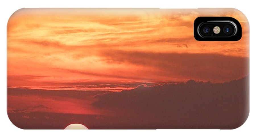 Mary Deal IPhone X Case featuring the photograph Waikiki Sunset No 4 by Mary Deal