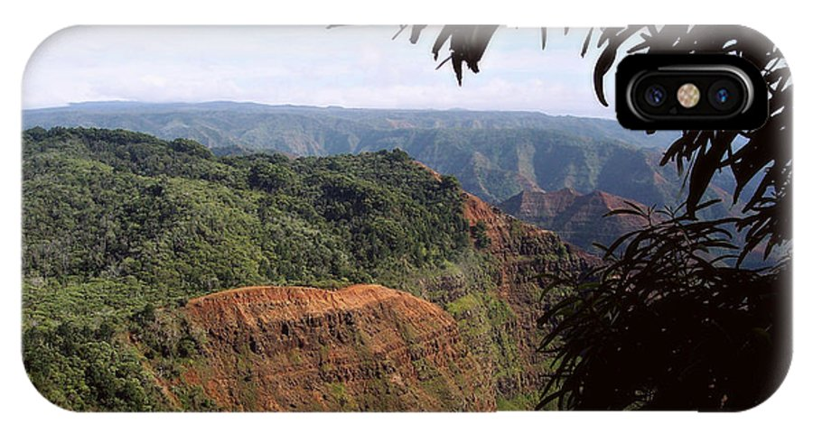 Nature IPhone X Case featuring the photograph Waimea Canyon And Marshes by Paulette B Wright