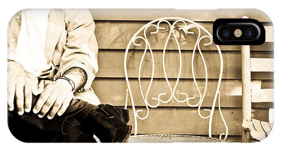 Chairs IPhone X Case featuring the photograph Waiting by Hannah Breidenbach