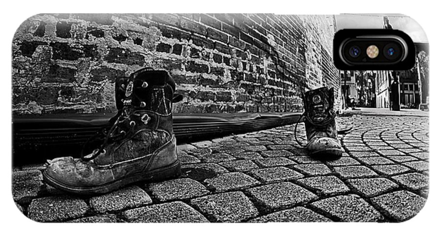 Boots IPhone X Case featuring the photograph Walkabout by Dan Wells