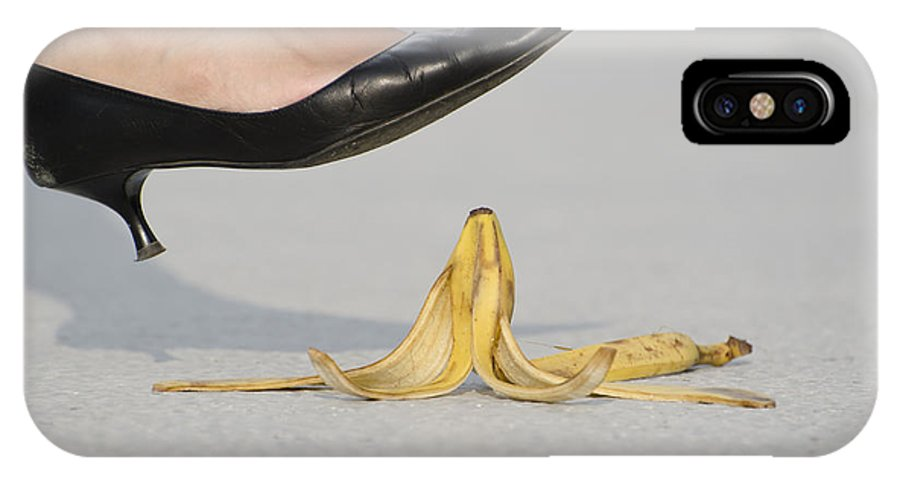 Banana Peel IPhone X Case featuring the photograph Walking On Banana Peel by Mats Silvan