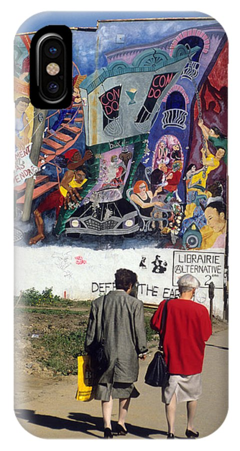 Creative IPhone X Case featuring the photograph Wall Mural In Montreal by Carl Purcell