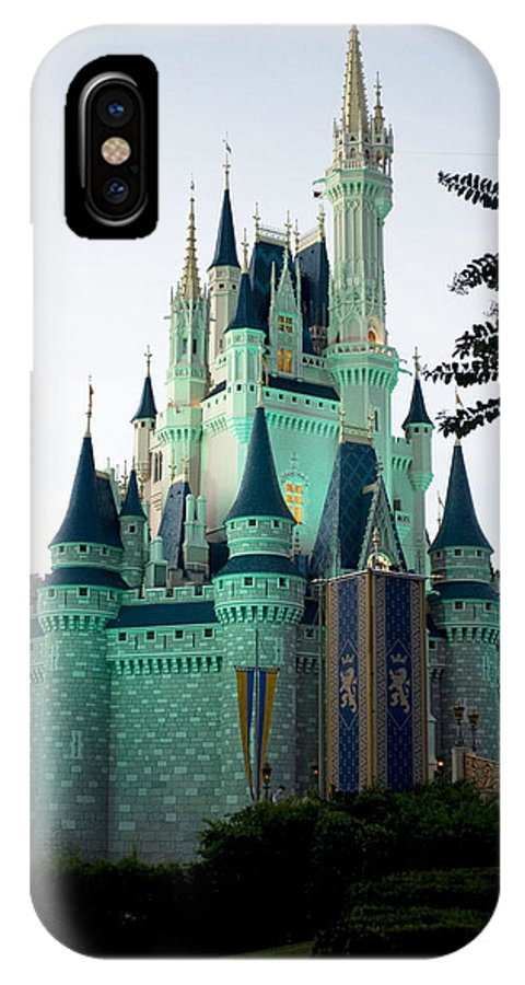 Walt Disney IPhone X / XS Case featuring the photograph Walt Disney Castle by Lisha Segur