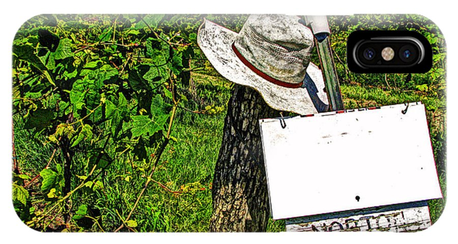 Vineyard IPhone X Case featuring the photograph Walt's Hat by William Fields