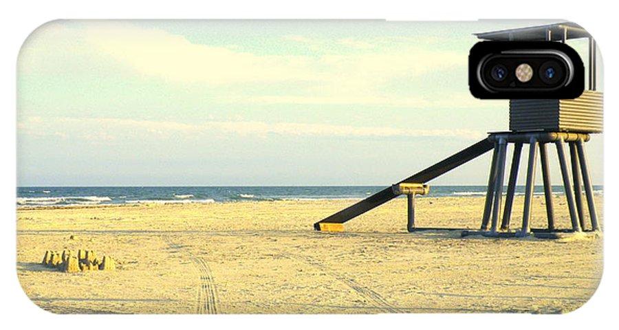 Beach IPhone X Case featuring the photograph War Of The Worlds by Joe Pratt