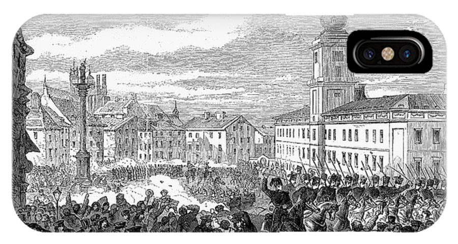 1861 IPhone X Case featuring the photograph Warsaw: Civil Disturbance by Granger