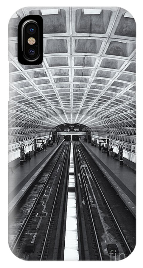 Clarence Holmes IPhone X Case featuring the photograph Washington Dc Metro Station II by Clarence Holmes