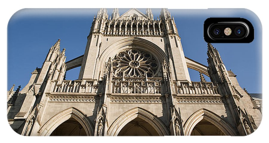 Architecture IPhone X Case featuring the photograph Washington National Cathedral Entrance by Richard Nowitz