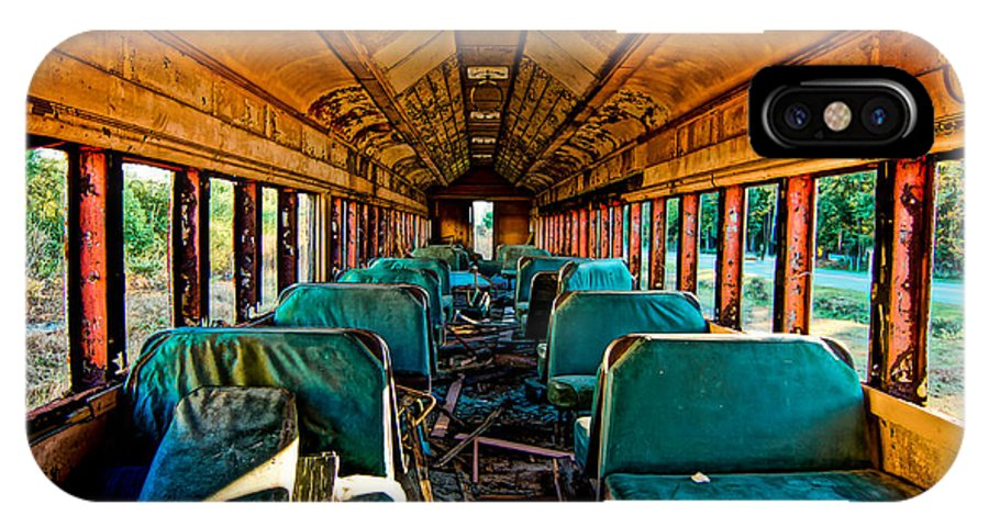 Train IPhone X Case featuring the photograph Wasted Away by Matthew Trudeau