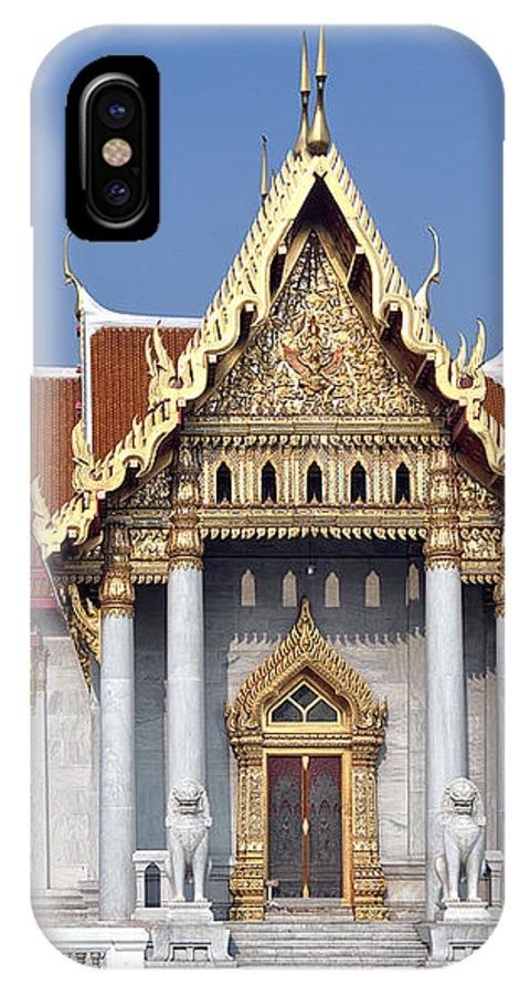 Bangkok IPhone X Case featuring the photograph Wat Benchamabophit Ubosot Dthb180 by Gerry Gantt