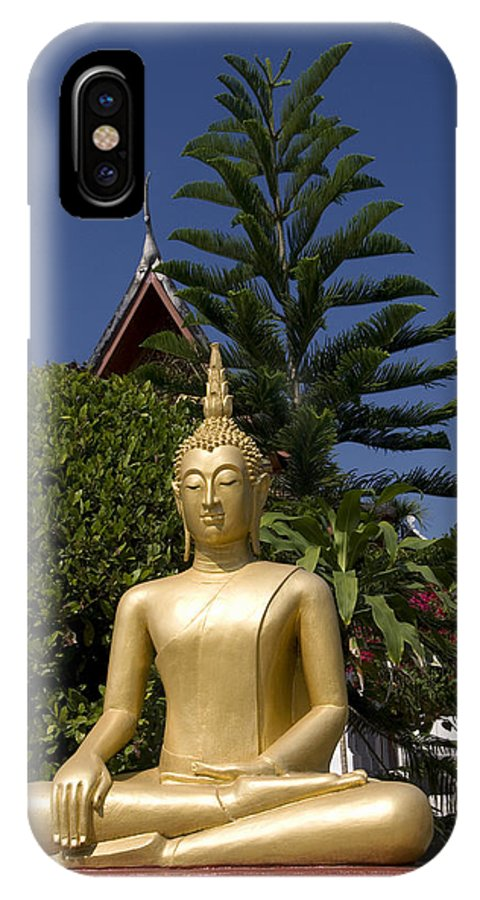 Asian IPhone X Case featuring the photograph Wat Mai Buddha II by Gloria & Richard Maschmeyer