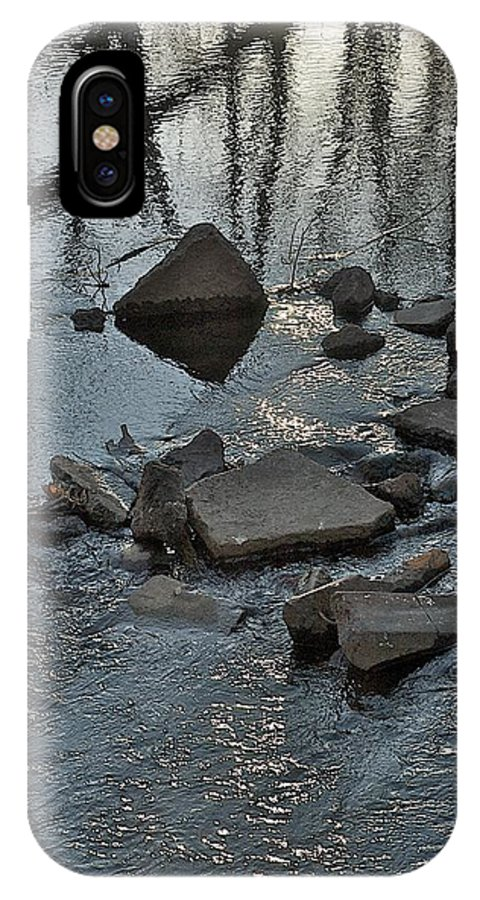 Blue Water IPhone X Case featuring the photograph Water And Woods by Joseph Yarbrough