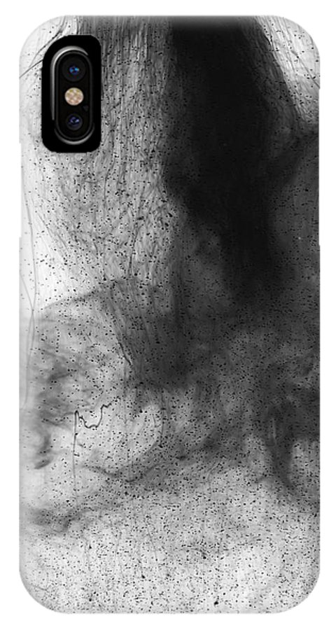 Abstract IPhone X Case featuring the photograph Water Dust by Sumit Mehndiratta